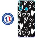 TPU0PSMART19LOVE2 - Coque souple pour Huawei P Smart (2019) avec impression Motifs Love coeur 2