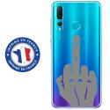 TPU0PSMART19MAINDOIGT - Coque souple pour Huawei P Smart (2019) avec impression Motifs doigt d'honneur