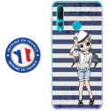 TPU0PSMART19MANGAMARINE - Coque souple pour Huawei P Smart (2019) avec impression Motifs manga fille marin