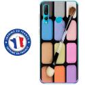 TPU0PSMART19MAQUILLAGE - Coque souple pour Huawei P Smart (2019) avec impression Motifs palette de maquillage