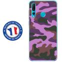 TPU0PSMART19MILITAIREROSE - Coque souple pour Huawei P Smart (2019) avec impression Motifs Camouflage militaire rose