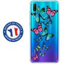 TPU0PSMART19PAPILLONS - Coque souple pour Huawei P Smart (2019) avec impression Motifs papillons colorés