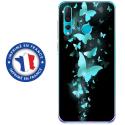 TPU0PSMART19PAPILLONSBLEUS - Coque souple pour Huawei P Smart (2019) avec impression Motifs papillons bleus