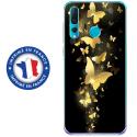 TPU0PSMART19PAPILLONSDORES - Coque souple pour Huawei P Smart (2019) avec impression Motifs papillons dorés