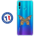 TPU0PSMART19PAPILLONSEUL - Coque souple pour Huawei P Smart (2019) avec impression Motifs papillon psychédélique