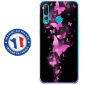 TPU0PSMART19PAPILLONSFUSHIAS - Coque souple pour Huawei P Smart (2019) avec impression Motifs papillons fushias