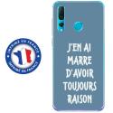 TPU0PSMART19RAISONBLEU - Coque souple pour Huawei P Smart (2019) avec impression Motifs marre d'avoir raison bleu