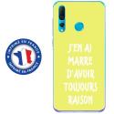 TPU0PSMART19RAISONJAUNE - Coque souple pour Huawei P Smart (2019) avec impression Motifs marre d'avoir raison jaune