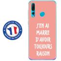 TPU0PSMART19RAISONROSE - Coque souple pour Huawei P Smart (2019) avec impression Motifs marre d'avoir raison rose