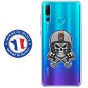 TPU0PSMART19SKULLCASQUE - Coque souple pour Huawei P Smart (2019) avec impression Motifs tête de mort avec un casque de moto