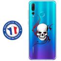 TPU0PSMART19SKULLTRIBAL - Coque souple pour Huawei P Smart (2019) avec impression Motifs tête de mort sur fond tribal