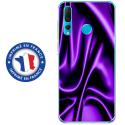 TPU0PSMART19SOIEMAUVE - Coque souple pour Huawei P Smart (2019) avec impression Motifs soie drapée mauve