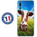 TPU0PSMART19VACHE - Coque souple pour Huawei P Smart (2019) avec impression Motifs vache