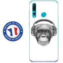 TPU0PSMART19VIEUSINGECASQ - Coque souple pour Huawei P Smart (2019) avec impression Motifs singe avec casque