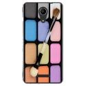 TPU0TOMMY2MAQUILLAGE - Coque souple pour Wiko Tommy 2 avec impression Motifs palette de maquillage