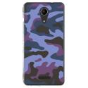 TPU0TOMMY2MILITAIREBLEU - Coque souple pour Wiko Tommy 2 avec impression Motifs Camouflage militaire bleu