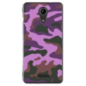 TPU0TOMMY2MILITAIREROSE - Coque souple pour Wiko Tommy 2 avec impression Motifs Camouflage militaire rose