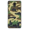 TPU0TOMMY2MILITAIREVERT - Coque souple pour Wiko Tommy 2 avec impression Motifs Camouflage militaire vert