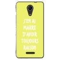 TPU0TOMMY2RAISONJAUNE - Coque souple pour Wiko Tommy 2 avec impression Motifs marre d'avoir raison jaune