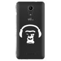 TPU0TOMMY2SINGECASQ - Coque souple pour Wiko Tommy 2 avec impression Motifs singe avec son casque