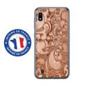 TPU0TPU0A10ARABESQUEBRONZE - Coque souple pour Samsung Galaxy A10 avec impression Motifs arabesque bronze