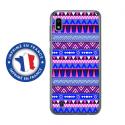 TPU0TPU0A10AZTEQUEBLEUVIO - Coque souple pour Samsung Galaxy A10 avec impression Motifs aztèque bleu et violet