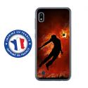 TPU0TPU0A10BALLONFOOT - Coque souple pour Samsung Galaxy A10 avec impression Motifs Ballon de football enflammé