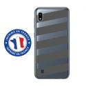 TPU0TPU0A10BANDESGRISES - Coque souple pour Samsung Galaxy A10 avec impression Motifs bandes grises