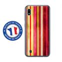 TPU0TPU0A10BANDESVINT2 - Coque souple pour Samsung Galaxy A10 avec impression Motifs bandes effets vintages 2