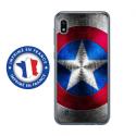TPU0TPU0A10BOUCLIER - Coque souple pour Samsung Galaxy A10 avec impression Motifs bouclier étoilé aux couleurs de l'Amériq