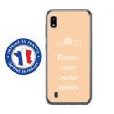 TPU0TPU0A10BOUDERBEIGE - Coque souple pour Samsung Galaxy A10 avec impression Motifs Bouder pour mieux Régner beige