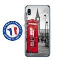 TPU0TPU0A10CABINEUK - Coque souple pour Samsung Galaxy A10 avec impression Motifs cabine téléphonique UK rouge
