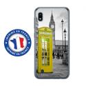 TPU0TPU0A10CABINEUKJAUNE - Coque souple pour Samsung Galaxy A10 avec impression Motifs cabine téléphonique UK jaune