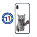 TPU0TPU0A10CHATYEUXBLEU - Coque souple pour Samsung Galaxy A10 avec impression Motifs chat yeux bleus