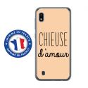 TPU0TPU0A10CHIEUSEBEIGE - Coque souple pour Samsung Galaxy A10 avec impression Motifs Chieuse d'Amour beige