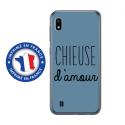 TPU0TPU0A10CHIEUSEBLEU - Coque souple pour Samsung Galaxy A10 avec impression Motifs Chieuse d'Amour bleu