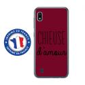 TPU0TPU0A10CHIEUSEBORDEAU - Coque souple pour Samsung Galaxy A10 avec impression Motifs Chieuse d'Amour bordeau
