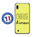 TPU0TPU0A10CHIEUSEJAUNE - Coque souple pour Samsung Galaxy A10 avec impression Motifs Chieuse d'Amour jaune