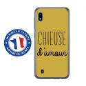 TPU0TPU0A10CHIEUSEOR - Coque souple pour Samsung Galaxy A10 avec impression Motifs Chieuse d'Amour or