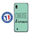 TPU0TPU0A10CHIEUSETURQUOISE - Coque souple pour Samsung Galaxy A10 avec impression Motifs Chieuse d'Amour turquoise