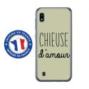 TPU0TPU0A10CHIEUSEVERT - Coque souple pour Samsung Galaxy A10 avec impression Motifs Chieuse d'Amour vert