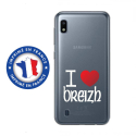 TPU0TPU0A10COEURBREIZH - Coque souple pour Samsung Galaxy A10 avec impression Motifs coeur rouge I Love Breizh