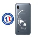 TPU0TPU0A10CRANE - Coque souple pour Samsung Galaxy A10 avec impression Motifs crâne blanc