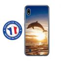 TPU0TPU0A10DAUPHIN - Coque souple pour Samsung Galaxy A10 avec impression Motifs dauphin