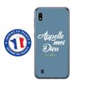 TPU0TPU0A10DIEUBLEU - Coque souple pour Samsung Galaxy A10 avec impression Motifs Appelle moi Dieu bleu