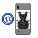 TPU0TPU0A10DOGPRISONOS - Coque souple pour Samsung Galaxy A10 avec impression Motifs bulldog prisonnier os