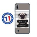 TPU0TPU0A10DOGPRISONTRISTE - Coque souple pour Samsung Galaxy A10 avec impression Motifs bulldog prisonnier