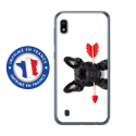 TPU0TPU0A10DOGVALENTIN - Coque souple pour Samsung Galaxy A10 avec impression Motifs bulldog valentin