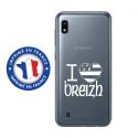 TPU0TPU0A10DRAPBREIZH - Coque souple pour Samsung Galaxy A10 avec impression Motifs drapeau Breton I Love Breizh