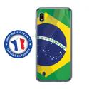 TPU0TPU0A10DRAPBRESIL - Coque souple pour Samsung Galaxy A10 avec impression Motifs drapeau du Brésil